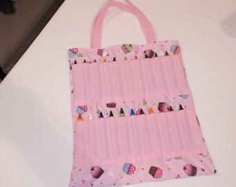 Pink Cupcake Crayon Tote Bag