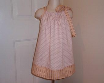 Polka Dot and Stripe Pillowcase Dress