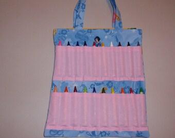 Blue Princess Crayon Tote Bag