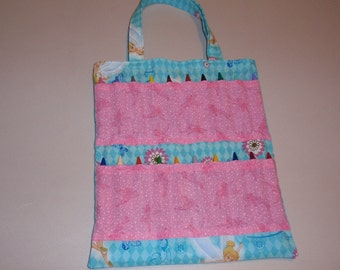 Sparkly Tinkerbell Crayon Tote Bag
