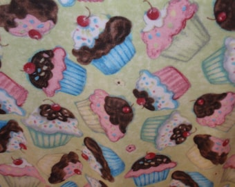 Cupcakes on Green blanket