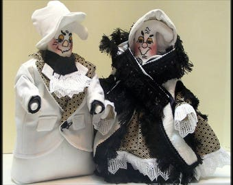 """2 in 1 """"Be Very Afraid, Dennis! and Valerie, The Proper Lady Ghost!"""" Victorian Ghost Art Dolls Combo E-Pattern"""