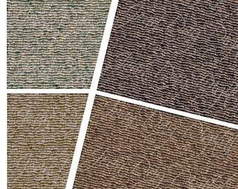 Rustic 1:48 scale Roof Tiles or Shingles in 4 styles on 2 pages JPG PDF Dollhouse Miniature Digital, 2 8.50x11 Printable Shingles MS001