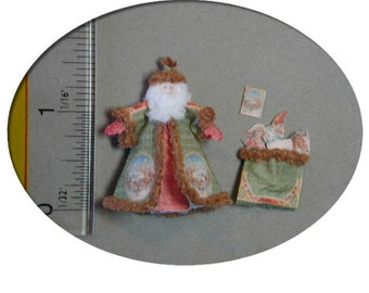 KIT A Victorian Santa, St. Nicholas and Toy Sack 1:48 scale dollhouse kit or 1/12 scale for a mantel, quarter scale. DK009