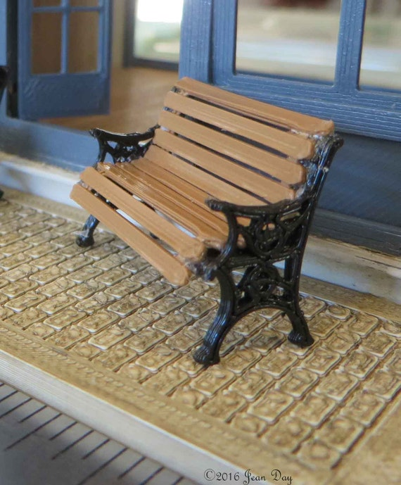 Peachy Kit Park Bench Kit Printed In 3D Printed In Black With Wood Looking Brown Quarter Scale 1 48 Mc018 Creativecarmelina Interior Chair Design Creativecarmelinacom
