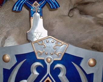 Custom LoZ Link's Master Sword & Hylian Shield
