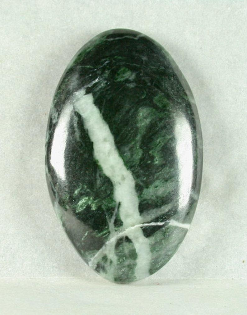 Jadeite Freeform Cabochon from Clear Creek California 22x36x6mm
