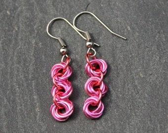 Ohrringe Rosen - pink