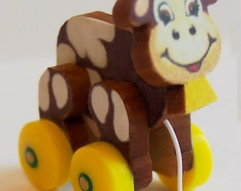 Dollhouse Miniature Cow Pull Toy KIT