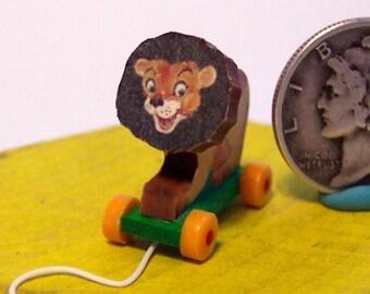 Circus Lion Toy Dollhouse Miniature KIT