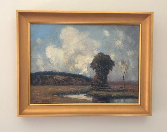 1920 Walter Whitcomb Thompson (1862-1948) Billerica, Massachussetts Landscape Oil on Canvas