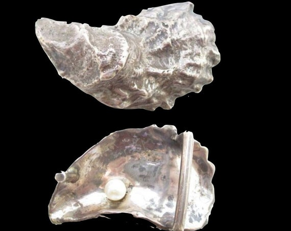 Sterling Silver Oyster Shell Belt Buckle - Handmade by Mark Lexton 925 Belt buckle