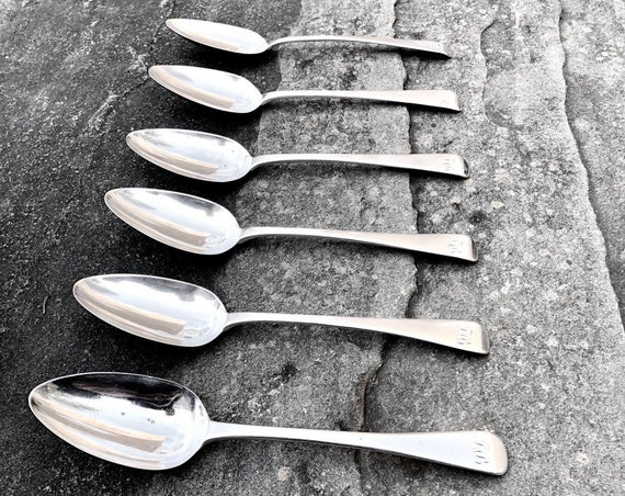 1809 Sterling George III English Tablespoon Set by Thomas Dicks