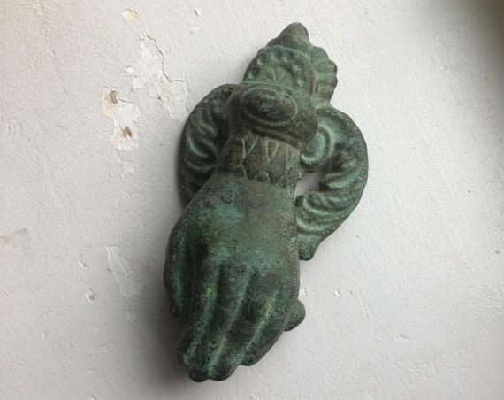 Hand of Fatima Vintage Brass Door Knocker