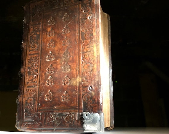 1560 Appian's Roman Wars in 11 books - 16th Century Renaissance Period Leather and Silver Accents
