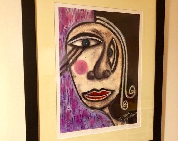 "Framed Print ""Distorcionada"" by Alexandra von Gundlach Alonzo 1/250"
