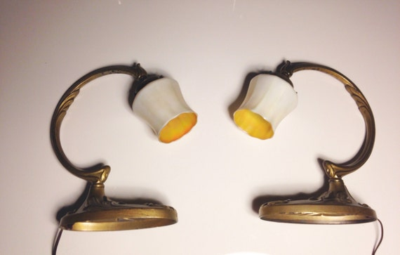 1921 Frères Muller French Art Deco Lamp Pair