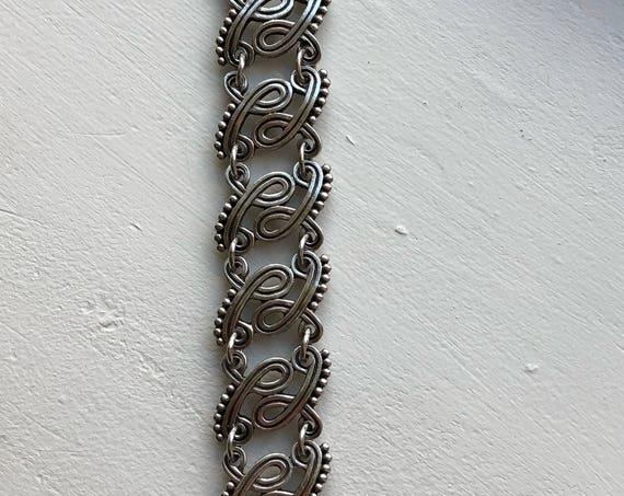 Ca. 1942 Los Castillo Taxco Sterling Silver Bracelet