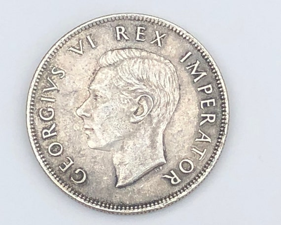 1943 XF George V South African 2 1/2 Shilling (KM30)