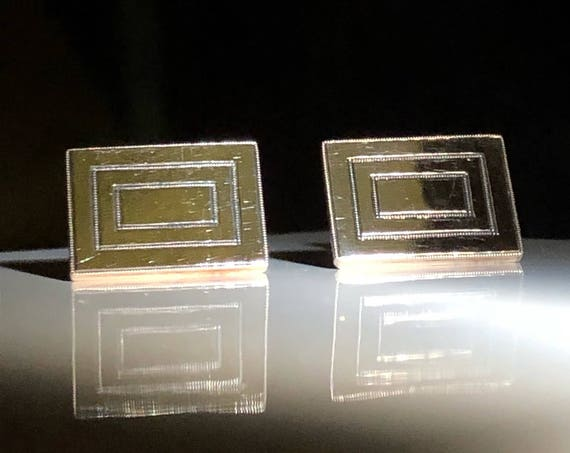 10K Gold Square Cufflinks (7.5 grams)