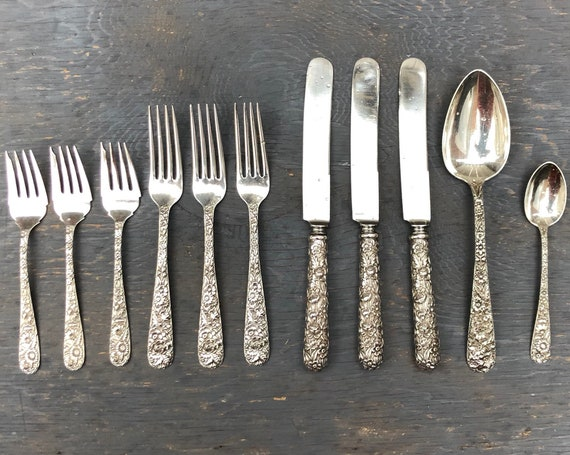 1896-1924 S. Kirk & Son Co Baltimore Rose Flatware