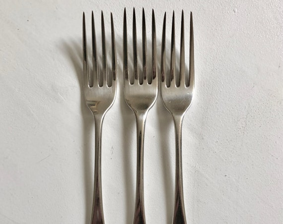 1803 Sterling Silver English George III Three Dinner Forks by Richard Crossley London