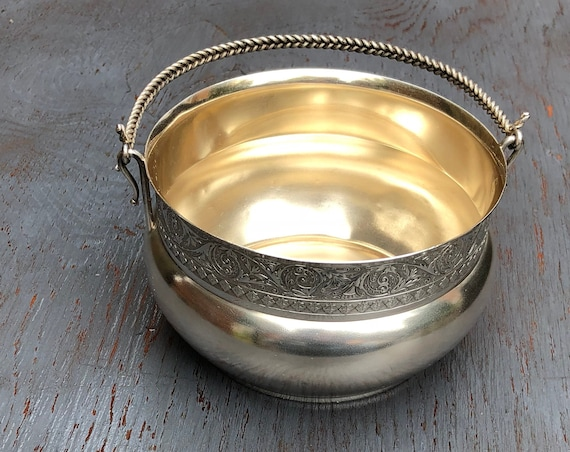 1880 Wood & Hughes of New York City Coin Sterling Silver Sugar Bowl