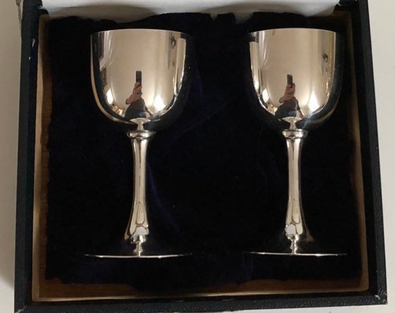 Japanese Gilded Sterling Silver Cordial Cup Set Handmade - Sake Cups