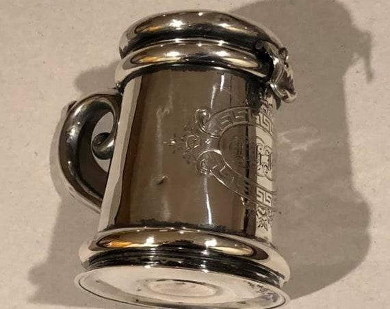 1845-7 Polish Silver Pushke or Tzedakah Box (Biala) 12 Lothige Silver