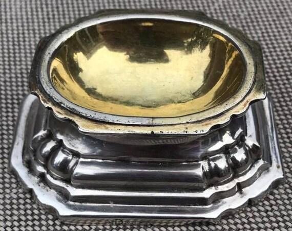 1710 Johann Ulrich Jebenz Trencher Salt Augsburg, Germany Parcel Gilt Sterling Silver