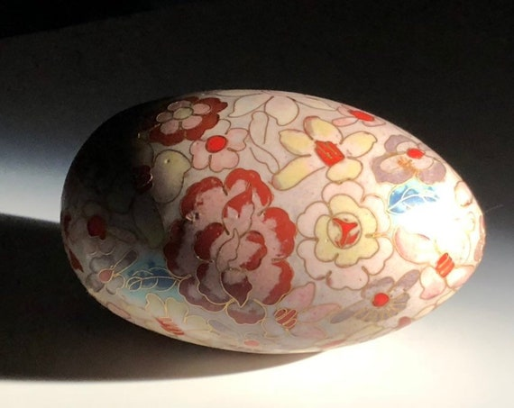 Extremely Fine Chinese Copper and Vitreous Enamel Cloisonne Egg