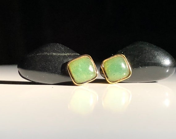 Kai-Yin Lo Gilded Sterling Silver Earrings Onyx and Aventurine