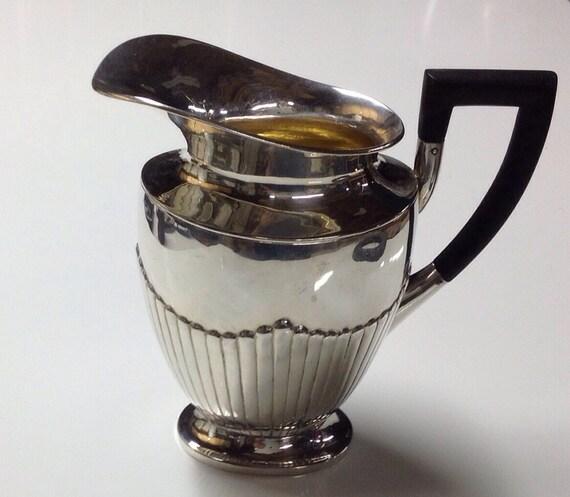 1939 Sterling Silver Queen Anne Danish Water Pitcher Johannes Siggaard Assay - WWII Era