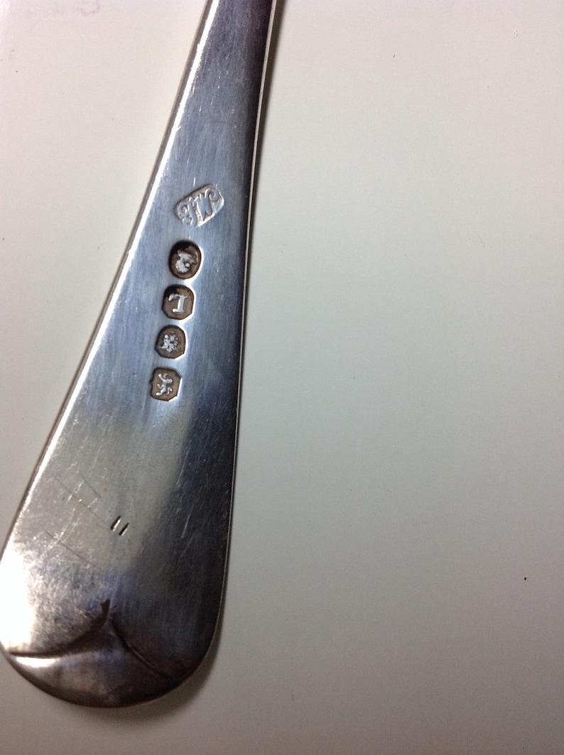 1806 Sterling Georgian English Serving Spoon by Thomas Wallis