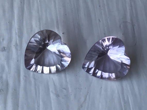 Oval Facet Cut Pale Amethysts (9.5 cttw)