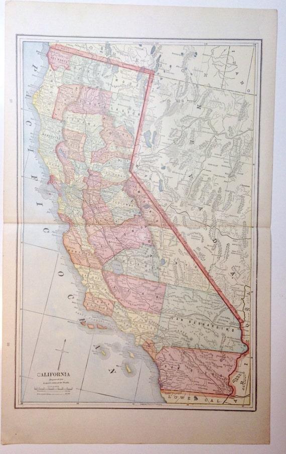 Original 1891 California Map