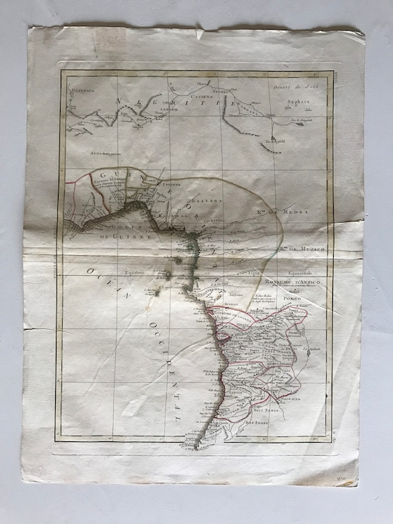 Phenomenal 1771 Map of West Africa in French