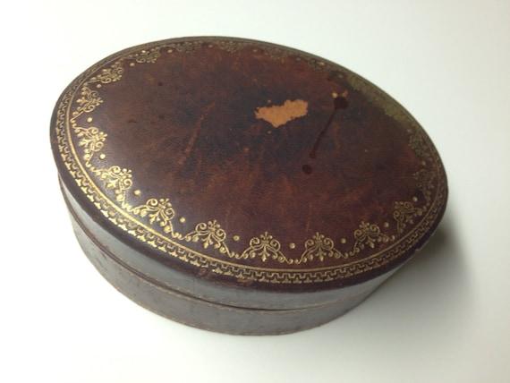 Gilt Leather Italian Box