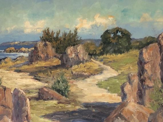 Plein Air Scandinavian Oil Painting on Canvas