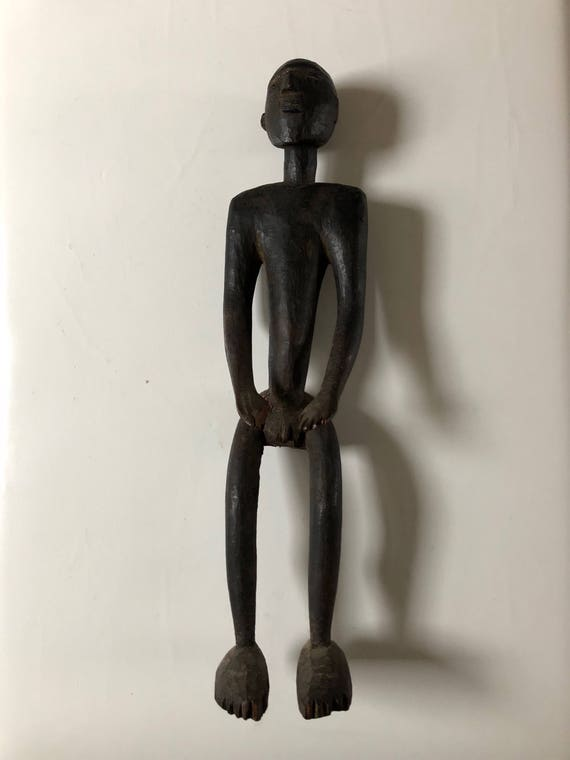 "Bobo Figure from Burkina Faso Wood Carving (24"")"