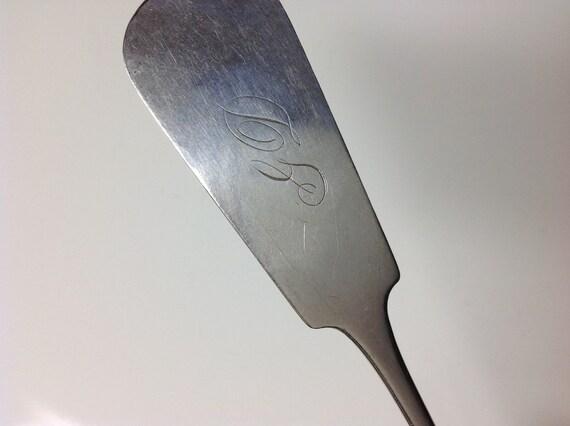 Ca 1835 American Coin Silver Serving Spoon Elyria, Ohio