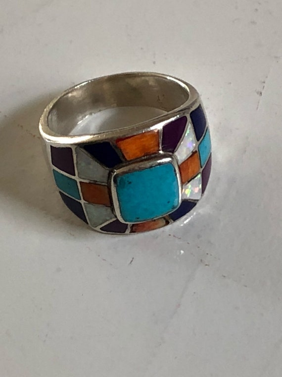 Sterling Silver Western Ring 925 Size 10 (12.4 grams)