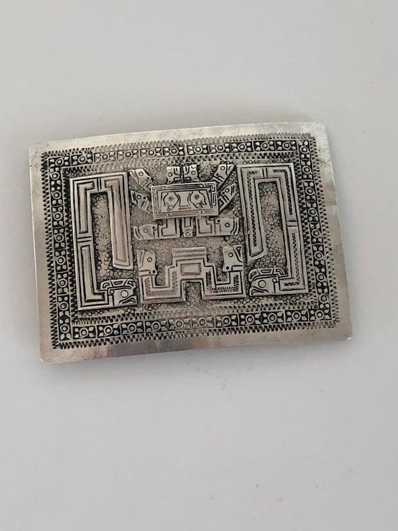 Peruvian 900 Silver Viracocha Concho