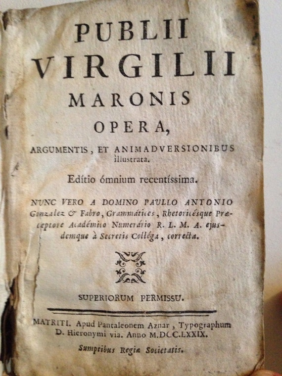 1779 Works of Virgil - 18th Century Vellum Book in Latin