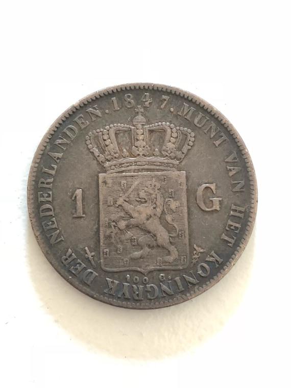 1847 Dutch 1 Gulden (VF)