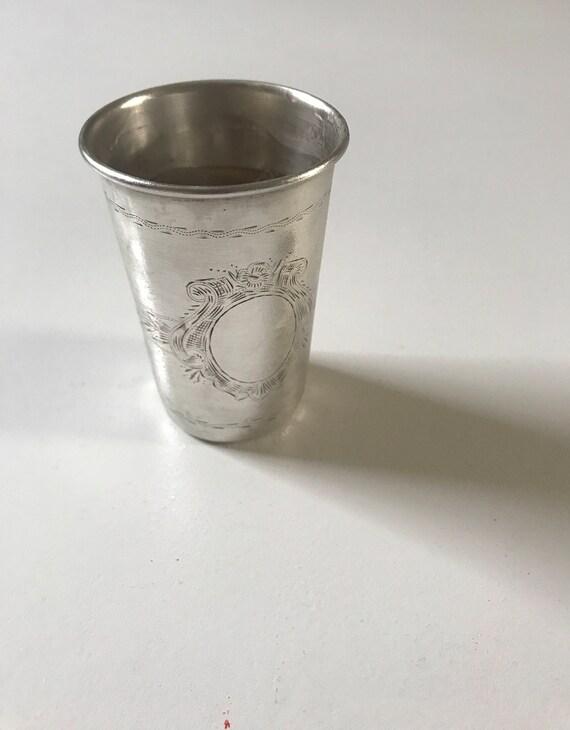 1867-1873 Pest, Hungary 750 Silver Kiddush Cup