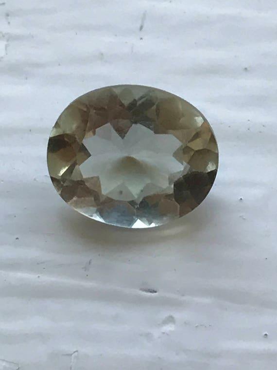 3.5 ct Oval Cut Prasiolite or Green Amethyst (5.5mm x 9mm x 11mm)