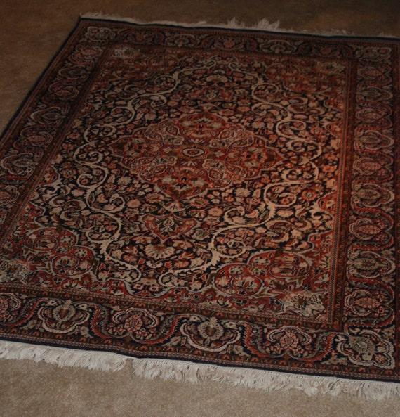 Kashmiri Kashans Design Woven Carpet Rug