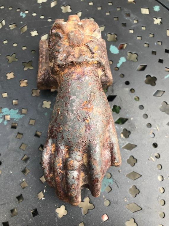 Hand of Fatima Vintage Cast Iron Door Knocker