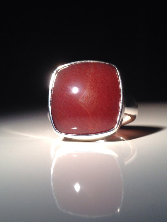 Sterling Silver Apple Valley Agate Ring 925 Size 6.5 (7.7 grams)